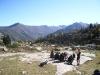 trek pyrenees  - gouter groupe